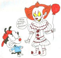 Wakko Meets Pennywise by SithVampireMaster27