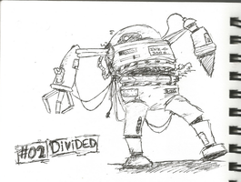 Inktober Day 2 - Divided by Minerscool