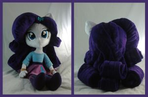 Equestria Girls Rarity chibi style plushie by WhiteHeather