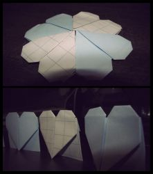 Paper heart by Irridian