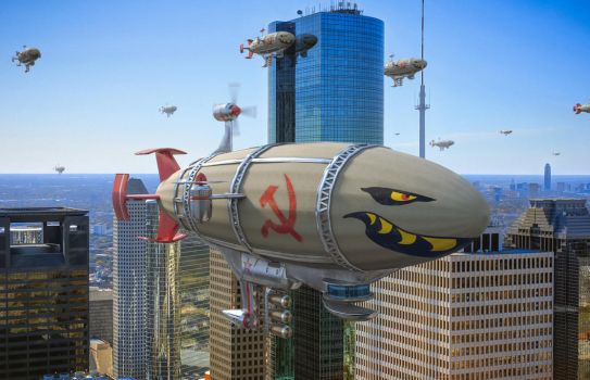 Kirov Airships invading Houston by lordcemonur