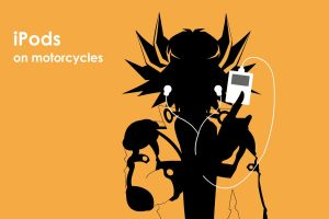 iPods on motorcycle by theskullkid