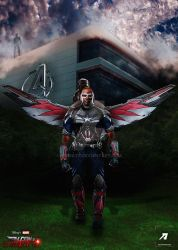 Poster: Falcon | Falcon and Winter Soldier by 4n4rkyX