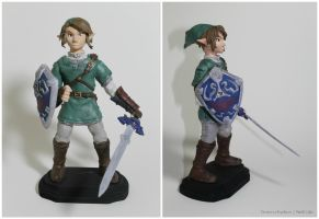 Twilight Princess Link Clay Sculpture by PixelCollie