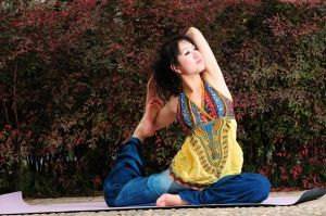 Chinese Yoga girl by AllenHwong