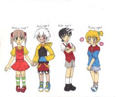 S.E. Childhood Line up by otaku-attitude
