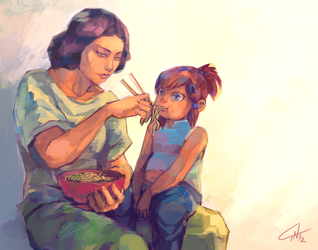 LoK: Lunchtime by c-dra