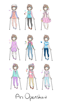 ari's outfits by stingrayqueen