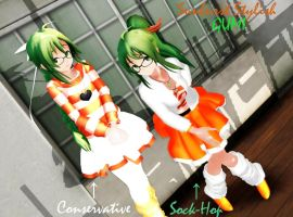 Sunburst Stylish GUMI -DL- by VocaloidKatia