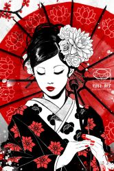 Geisha - Japan collection - Original Art by Ruby--Art