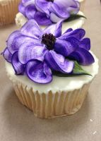 Purple Flower Cupcake by LucyQ602