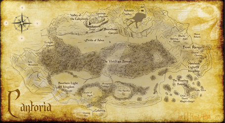 Map of Cantoria by KicsterAsh