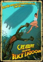 Creature from the Black Lagoon by ted1air