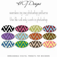 Seamless Zig Zag Photoshop Patterns by HGGraphicDesigns