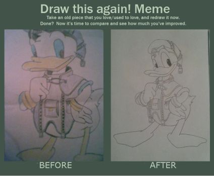 Donald KH - Draw this again! Meme by kngdmhrts2