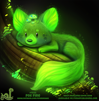 Daily Paint 1925# Fox Fire by Cryptid-Creations