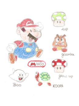 My Mario Drawing by Inge1607