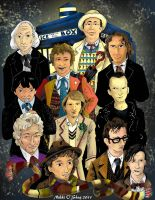 11 Doctors - Colored by DragonPress