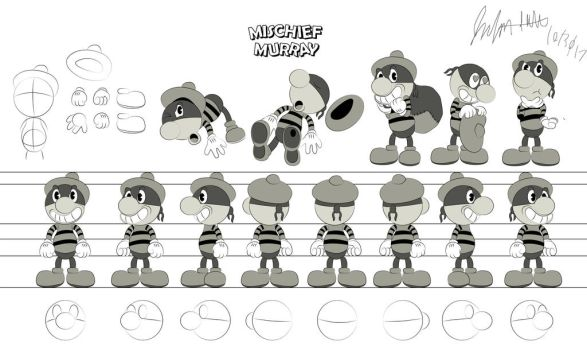 Mischief Murray Character Design by Jpolte