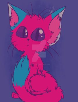 Colorful Kitty (Procreate)