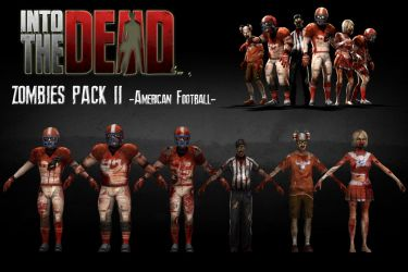 Into The Dead - Zombies *Pack 2* (Football) [XPS] by 972oTeV