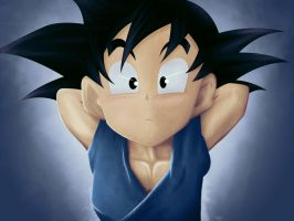 innocent Kid Goku - No idea by KhaledReese