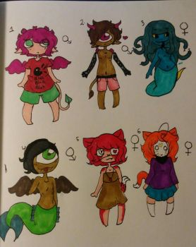 Traditional adopts ota (5/6 open) by The-Caster-Of-Spells