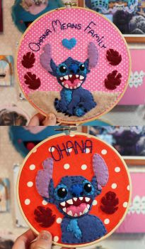 Stitch Hoops by loveandasandwich