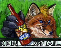 Ken Redtail Badge by Foxfeather248
