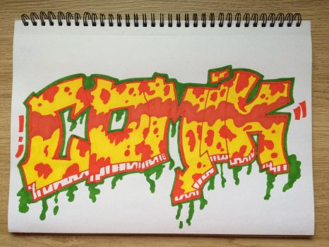Comik Graffiti Piece 1 *Blackbook* by Comik93