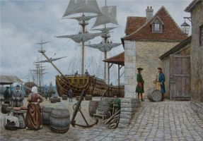 Customs in port by voitv