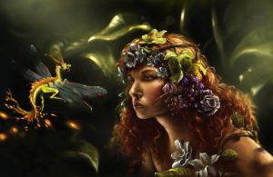 Flora and the Dragonfly by Morgainelefee