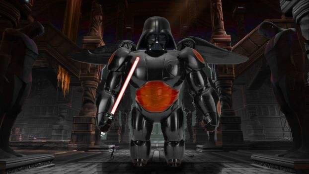 Lord Vader in Baymax' Armor by TheLyano