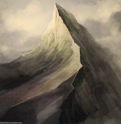 The Misty Mountains by FoxInShadow