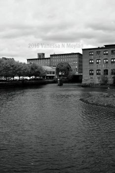Dover Washington Mill Building ~ Black and White by VanessaNMPhotography