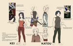 BeyFantasy : Kei and Katou ref sheet : by darkangel-hikari