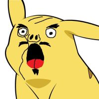 Pikachu's new face 1 by lordwindowlicker
