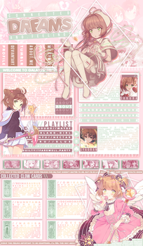 [MAL Layout] Connected Dreams and Feelings by GallaXyss