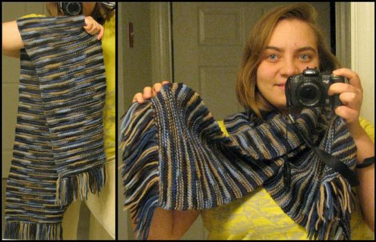 First Scarf ever by MimozaBlooming