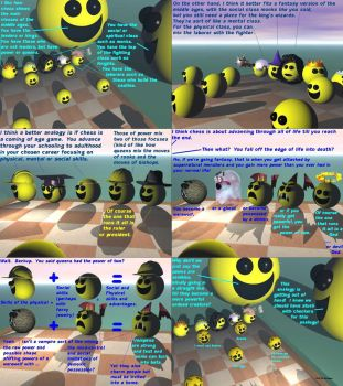 Smiley Faces Discuss the Meaning of Chess by Ack42