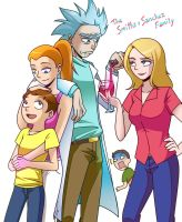 Rick and Morty: The Smiths+Sanchez Family by Evelynism