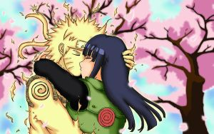 Commission NaruHina Kiss by Ade-R