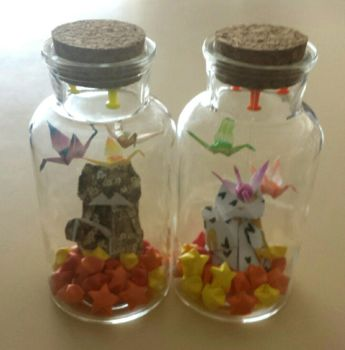 Little bottle of luck and good fortunes by Loucife