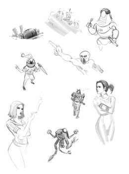 FO3 Doodles by IronShrineMaiden