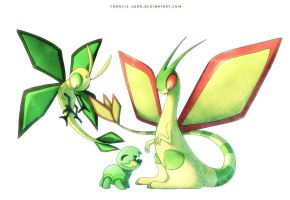 Vibrava Trapinch and Flygon