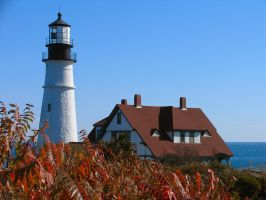 Portland, Maine lighthouse by sataikasia