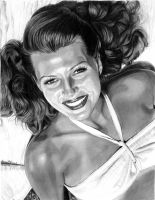 Rita Hayworth by khinson