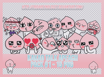 Pack #1 PNG | Kakao Talk Apeach by FridaReynolds27