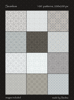 100 Seamless patterns by Sedma