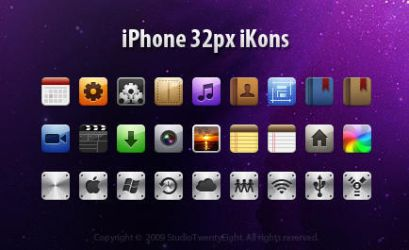 iPhone 32px iKons by javierocasio